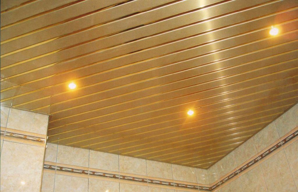 Реечные потолки чаще всего используют в ванной