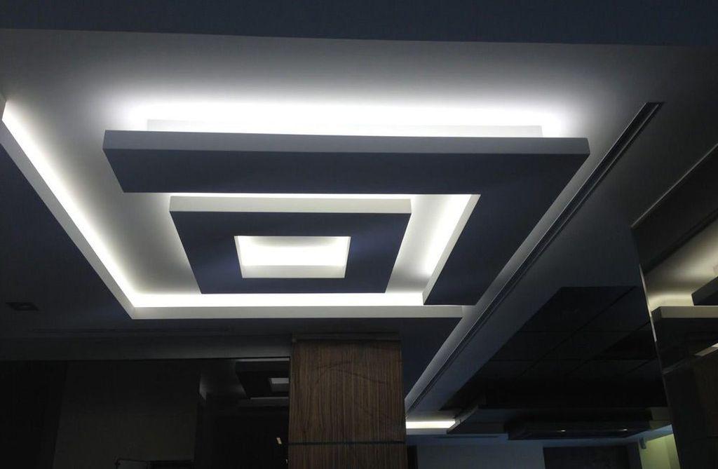хотим предложить освещение на потолке из гипсокартона фото сказочная полянка перед