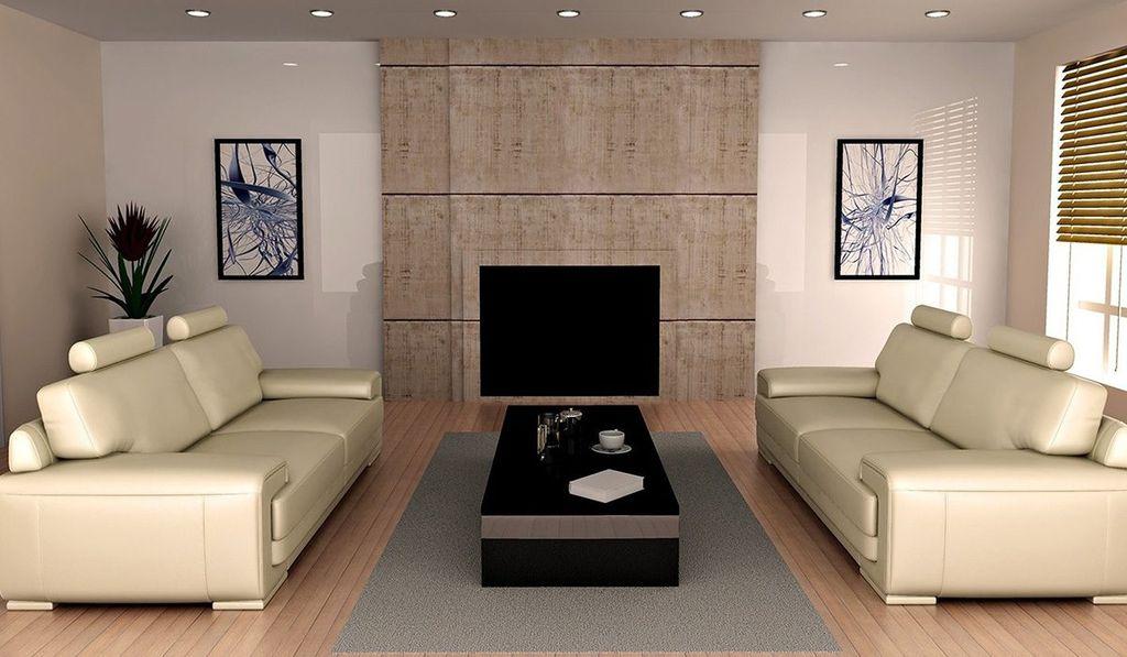 В просторном помещении возможно использование 2-ух диванов