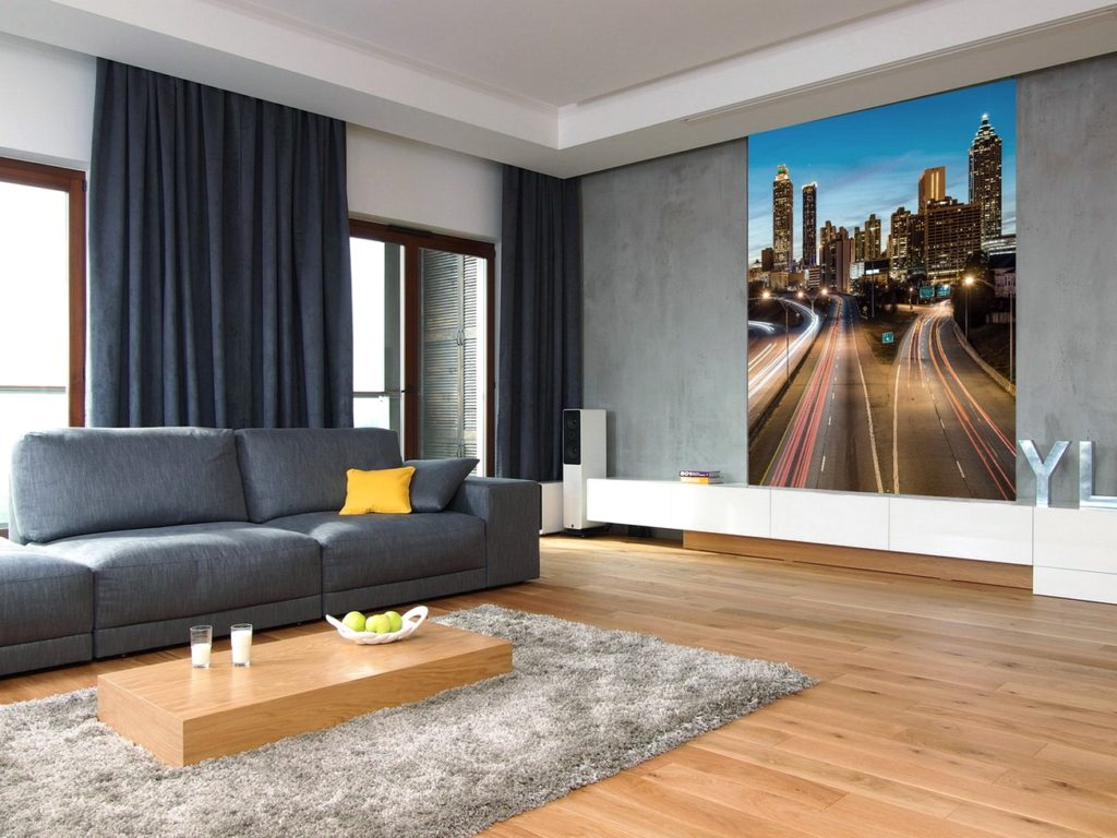 Серый интерьер гостиной относительно новый дизайнерский виток, которой завоевал огромную популярность