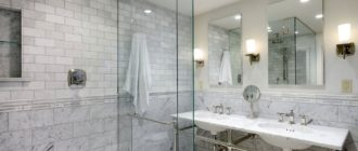 Ванная комната в сером цвете