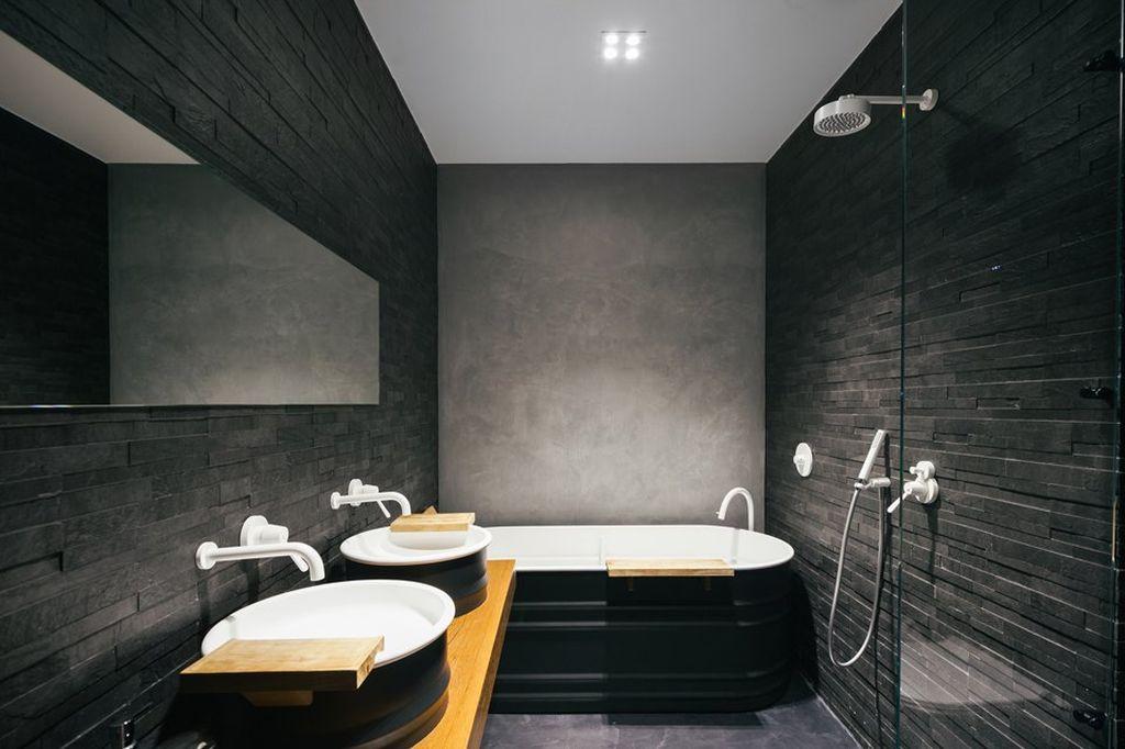 В стиле лофт отлично смотрятся серые бетонные полы или вариант из керамогранита