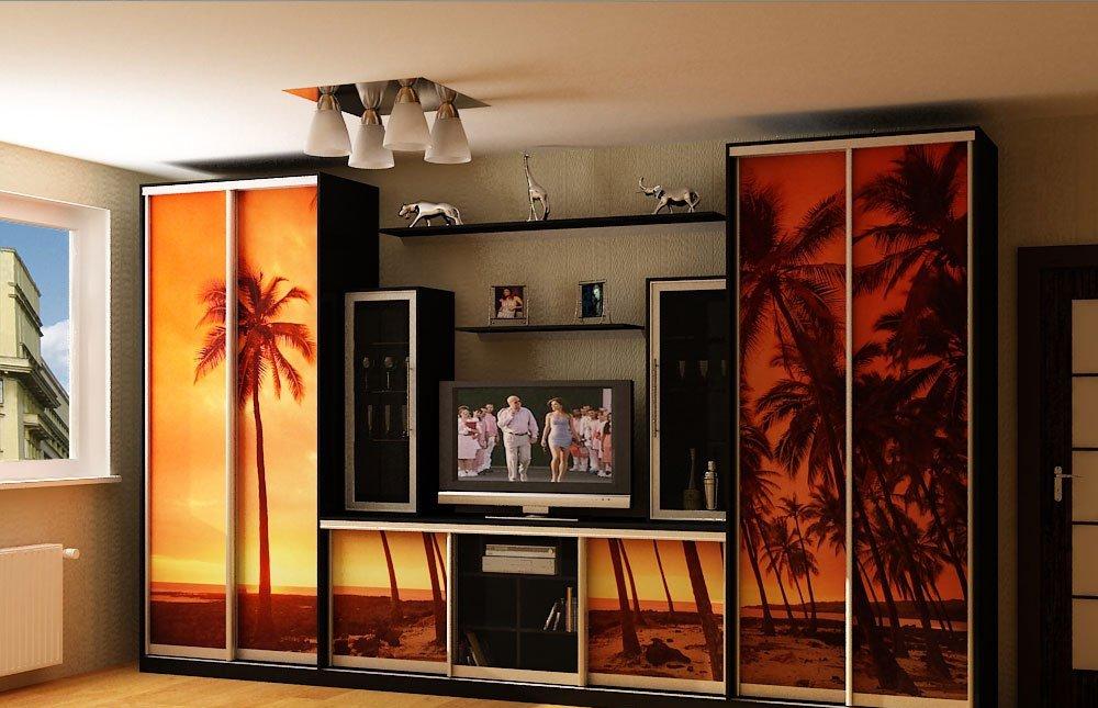 Фантазия потребителя может быть удовлетворена огромным выбором шкафов с нишей под телевизор
