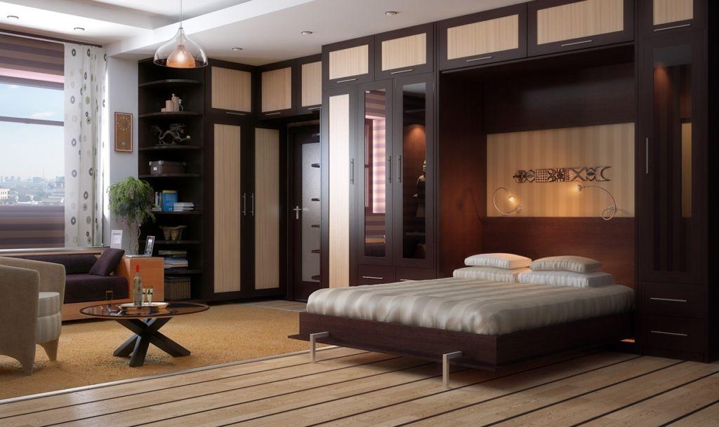 11 вариантов откидных кроватей, встроенных в шкаф