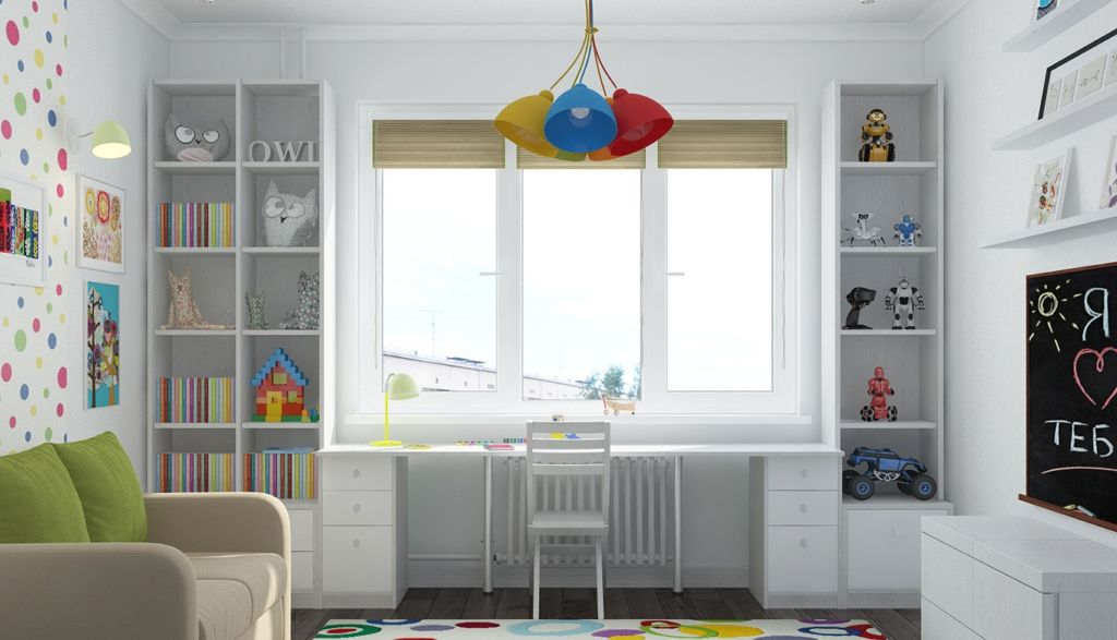 Шкаф у окна позволит разгрузить пространство, создаст комфорт, уют и порядок