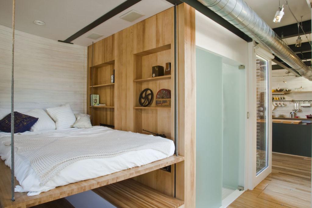 Кровать спальня эко стиль