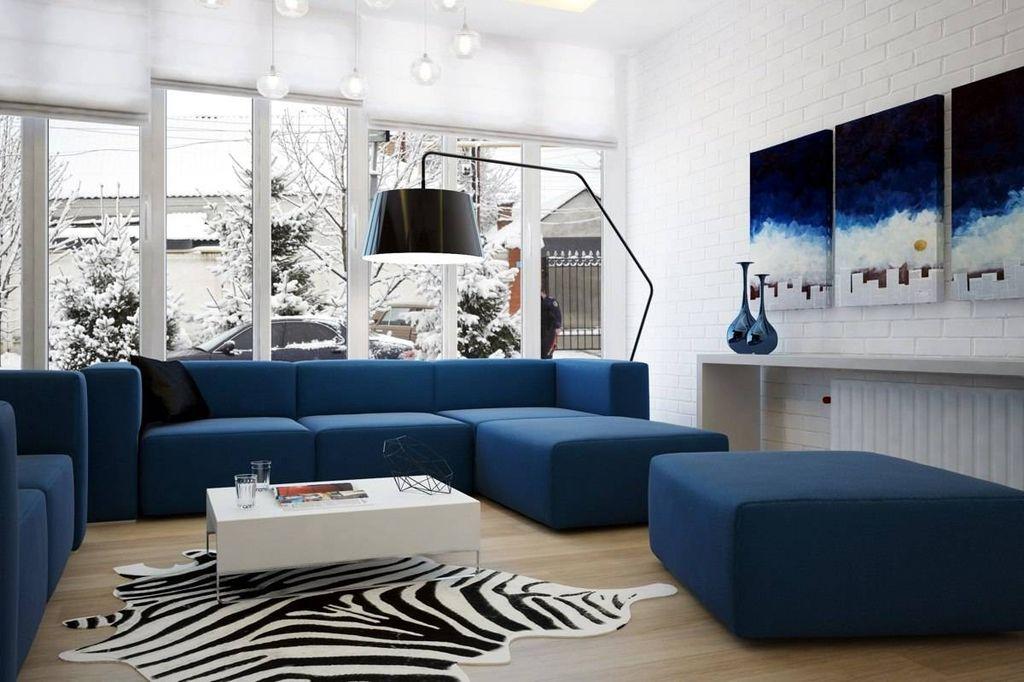 Гамма синего любит пространство и хорошее освещение