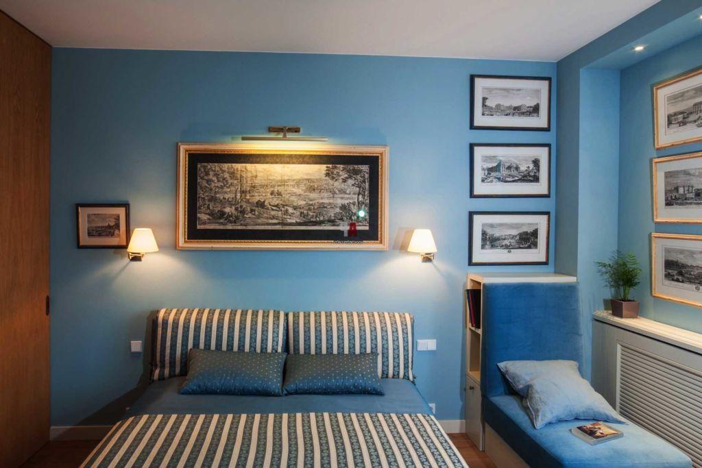 20 удачных примеров оформления спальни в синих тонах