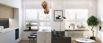 3 вида и 23 фото планировки дизайна кухни гостиной 20 кв м