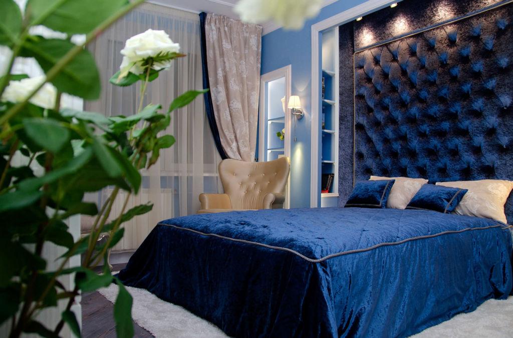 Синяя спальня – это помещение, в котором вы сможете по-настоящему расслабиться и отдохнуть