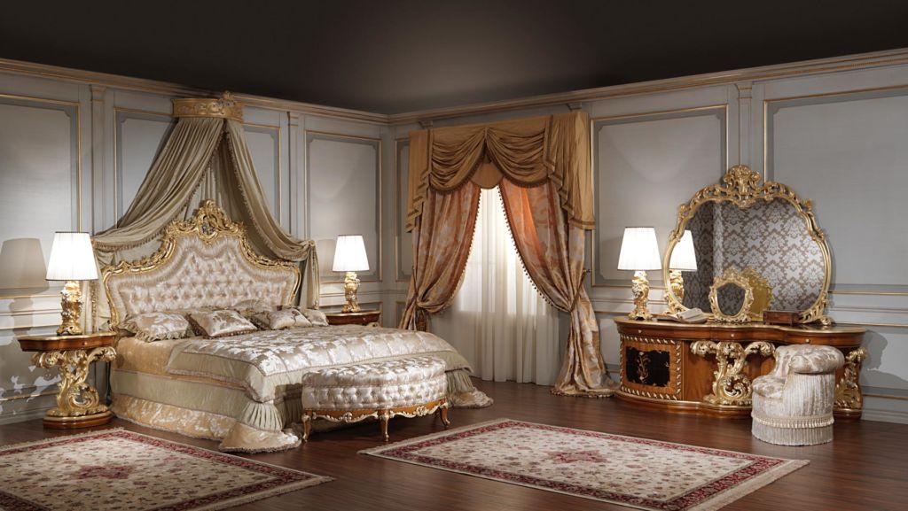 Оформление спальни в стиле барокко