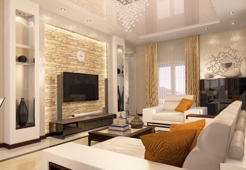 Общепринятая зона отдыха представляет собой большой диван и два кресла либо два небольших дивана и кресло, между которыми располагается журнальный столик