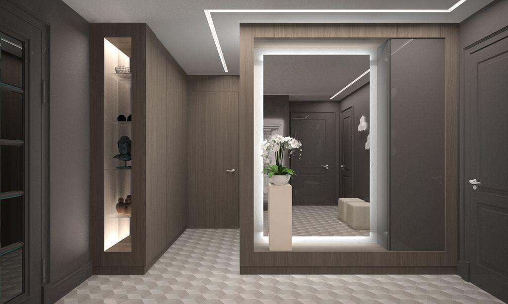 Для освещения зоны зеркала можно использовать модели со встроенной подсветкой