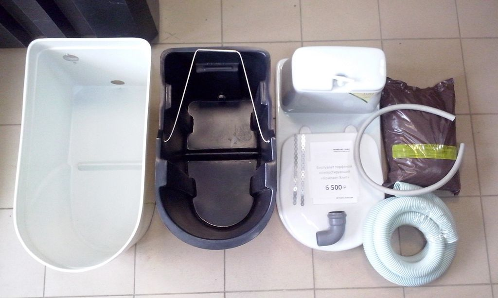 Комплектация заводского варианта торфяного туалета