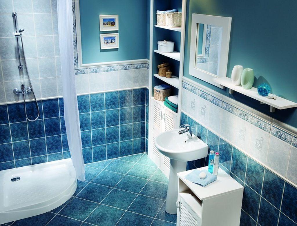 15 лучших вариантов дизайна ванной комнаты в темно-синих тонах