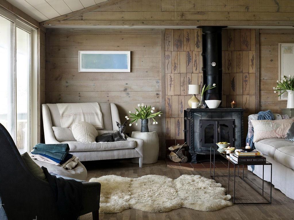 Скандинавский стиль в интерьере деревянного загородного дома