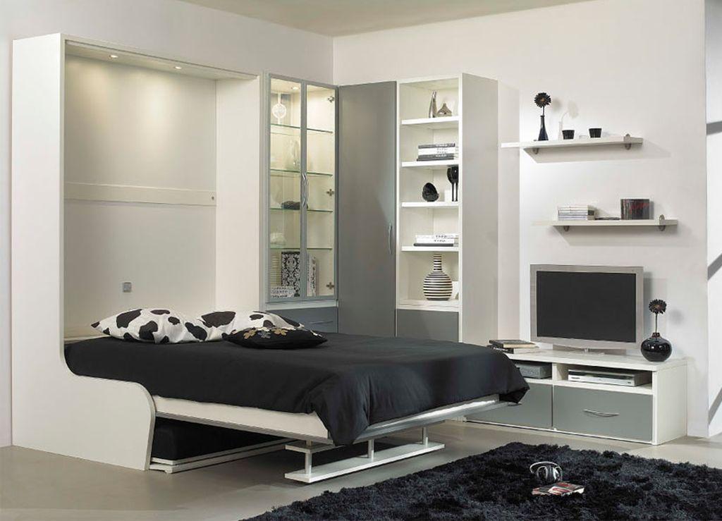 Встроенная кровать позволяет сэкономить место даже в небольшой комнате