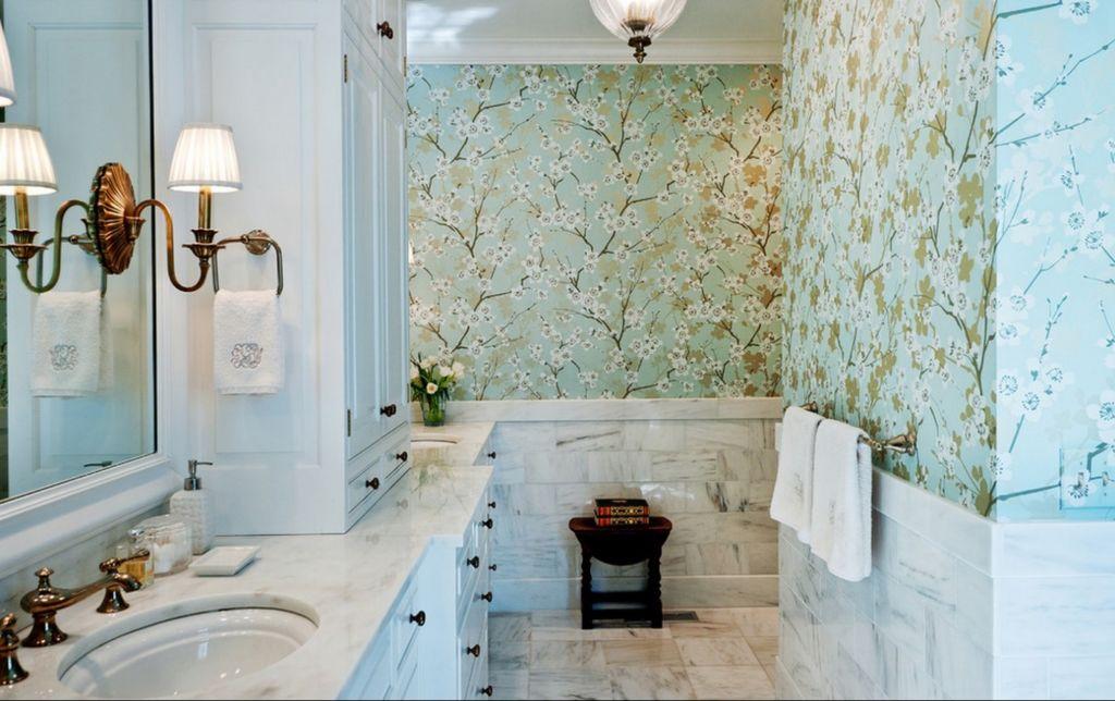 сновываться выбор обоев для ванной – способность противостоять влаге