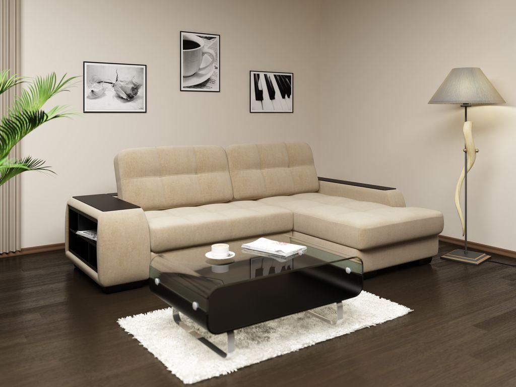 Обивка мебели и оттенок стен примерно совпадают
