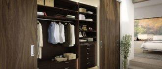 Как организовать удобную гардеробную в спальне