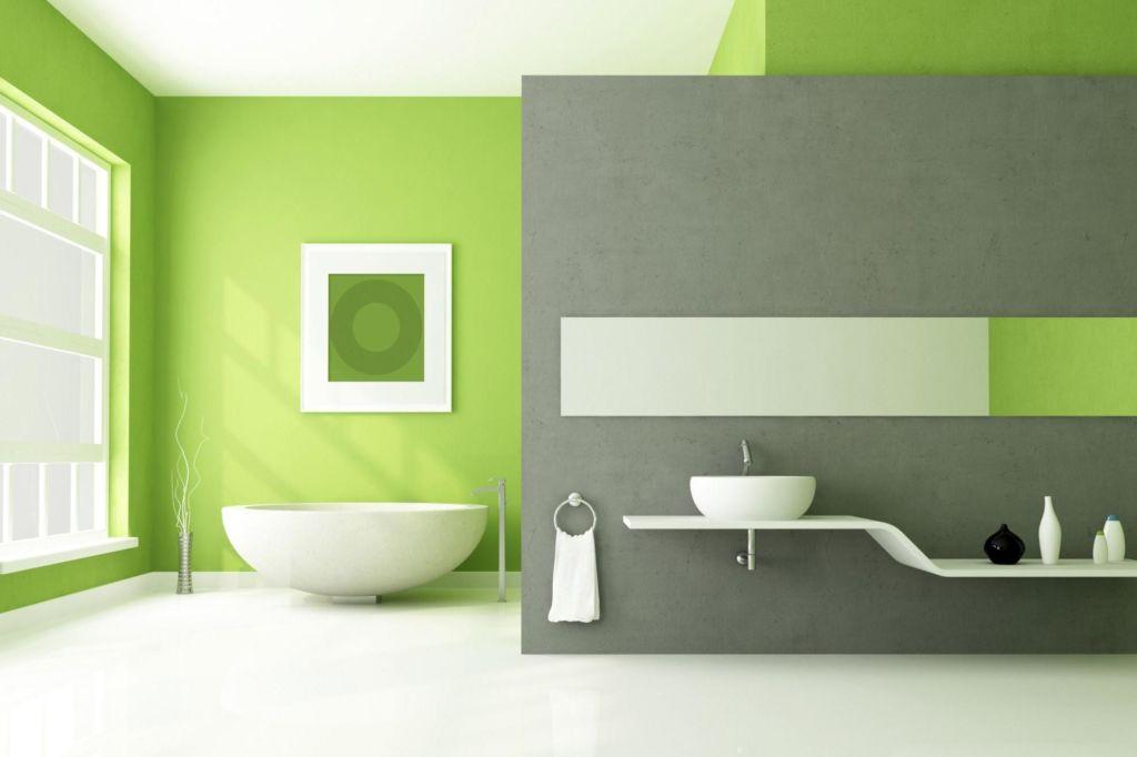 Ванная в стиле минимализм с большими окнами