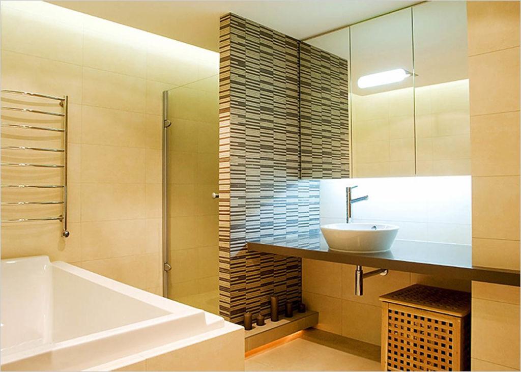 Каменная перегородка в ванной