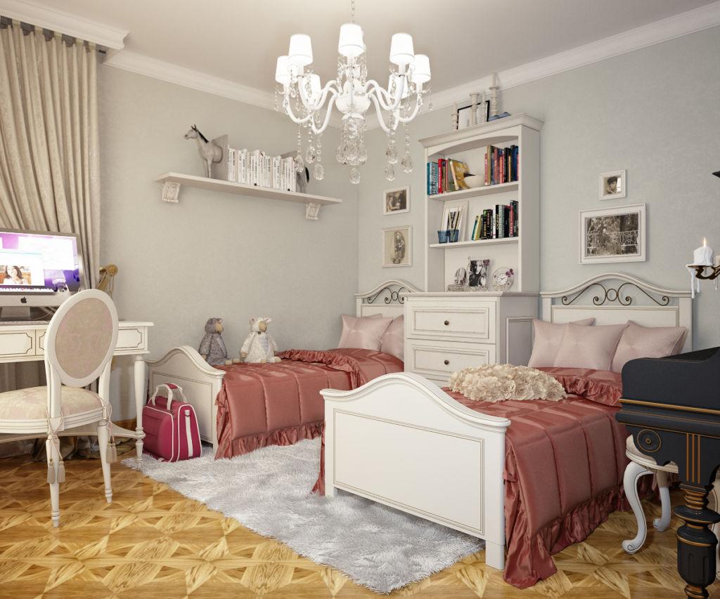 Комната для девочек в стиле прованс