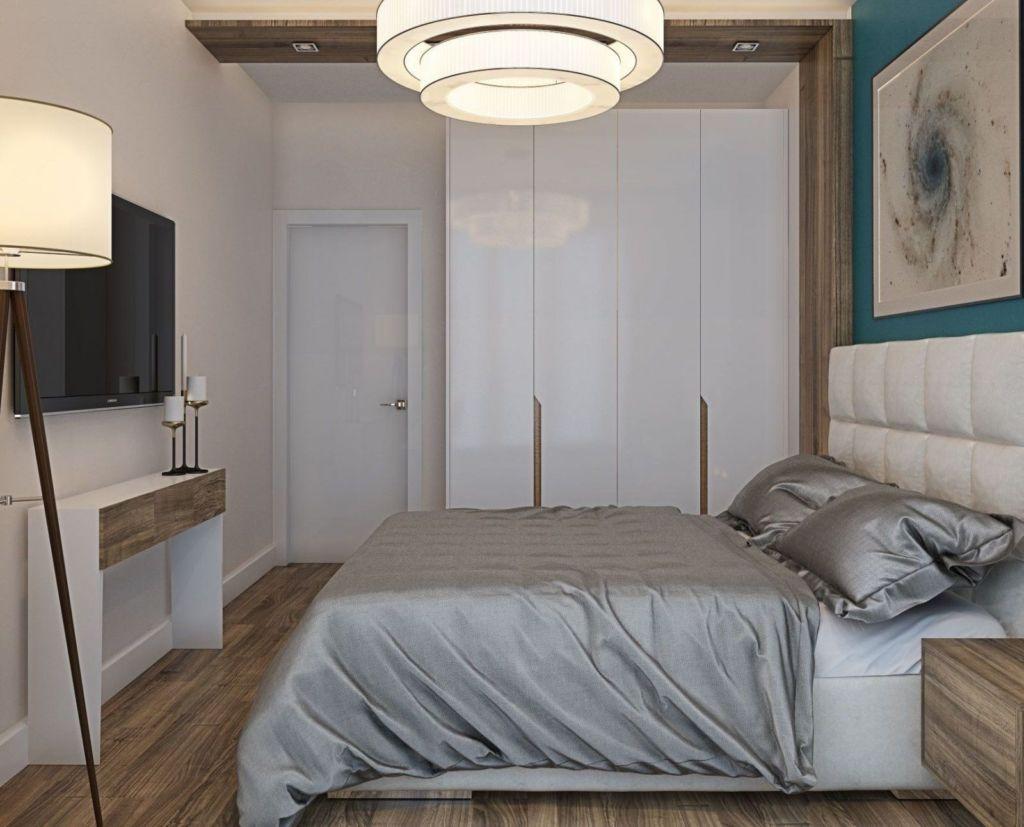 Встроенный шкаф в планировке маленькой спальни