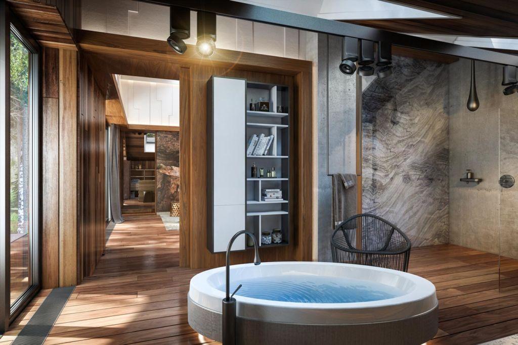 Допустимая сантехника и отделка для ванной комнаты в деревянном доме
