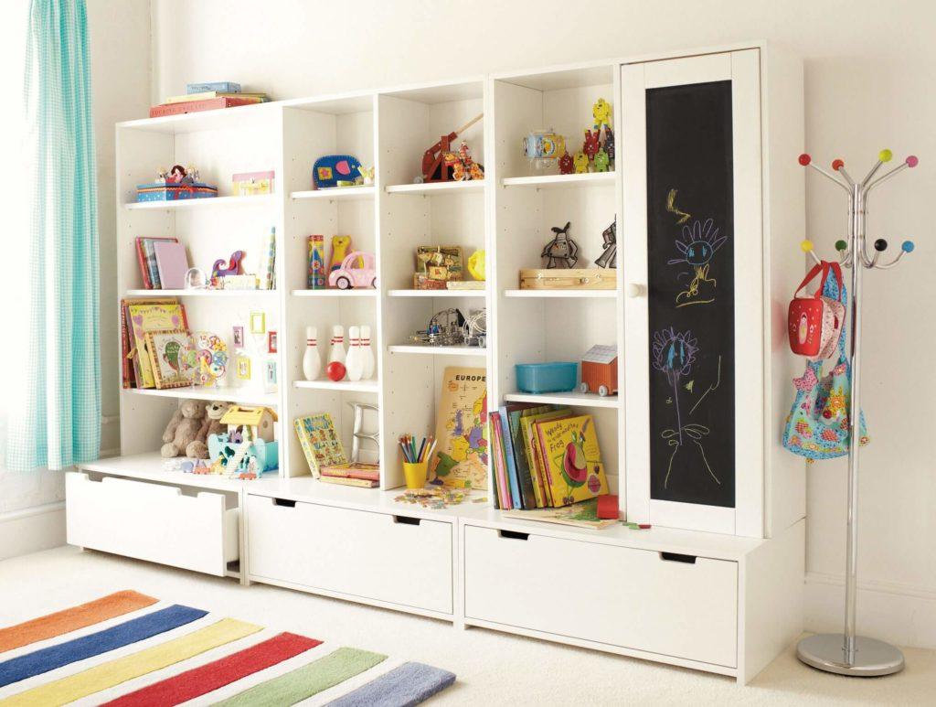 Детский шкаф для игрушек с выдвижными ящиками