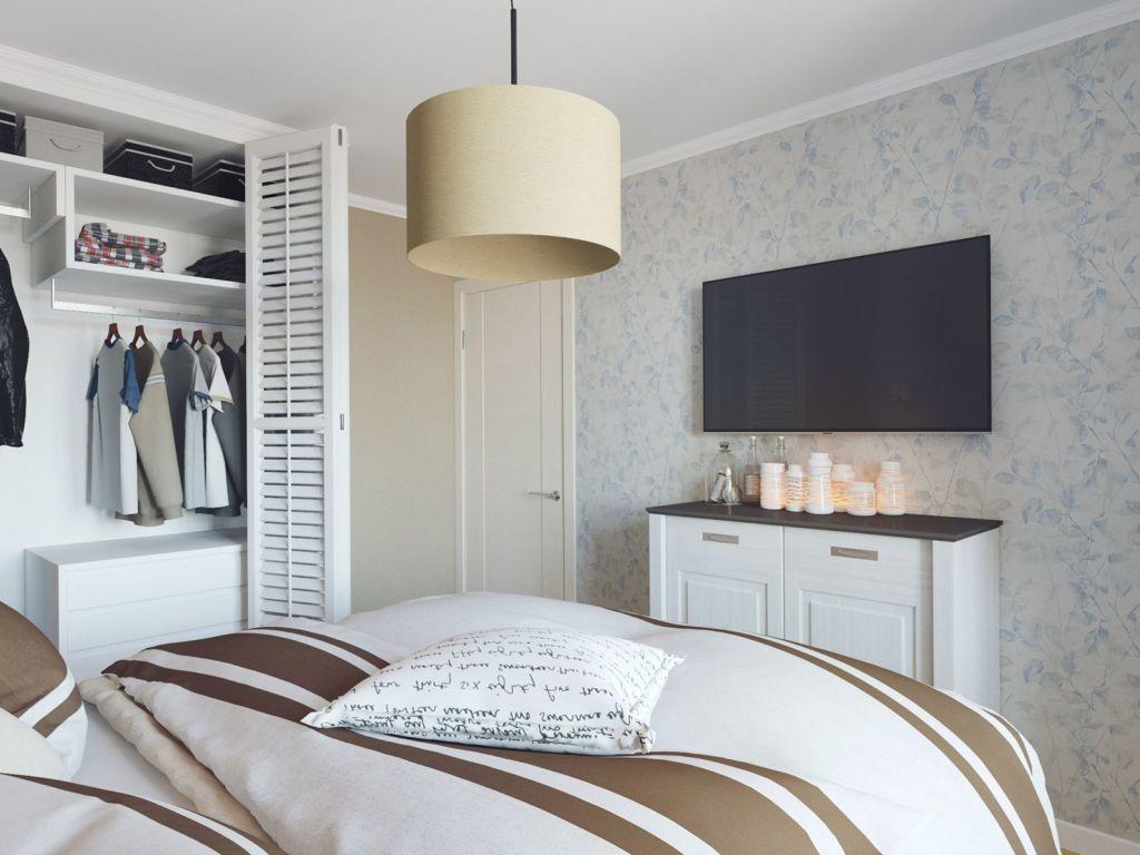 Для небольших комнат предпочтение стоит отдавать обоям с мелким рисунком или однотонным полотнам