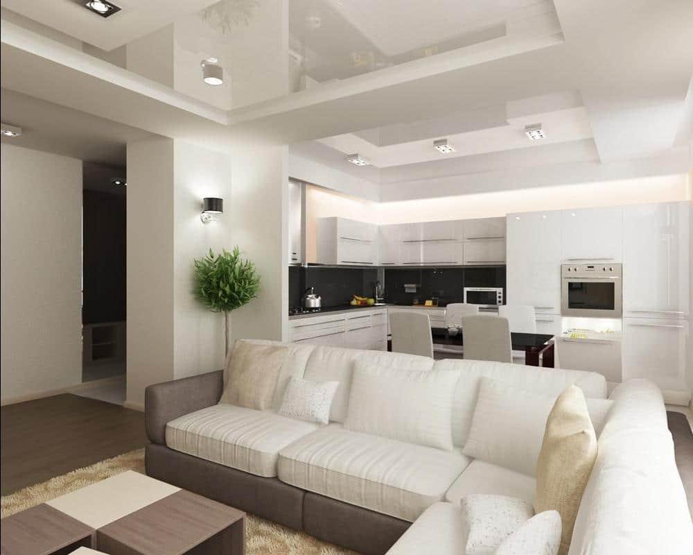 Кухня-прихожая нередко выступает удачным вариантом расширения пространства маленького помещения