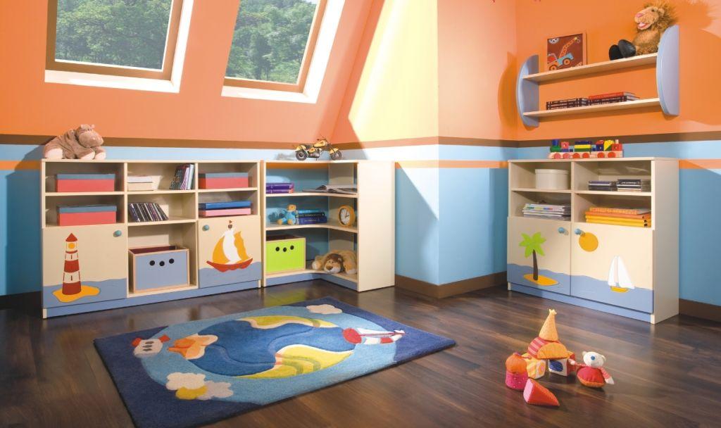 Мебель и аксессуары для хранения игрушек в детской комнате