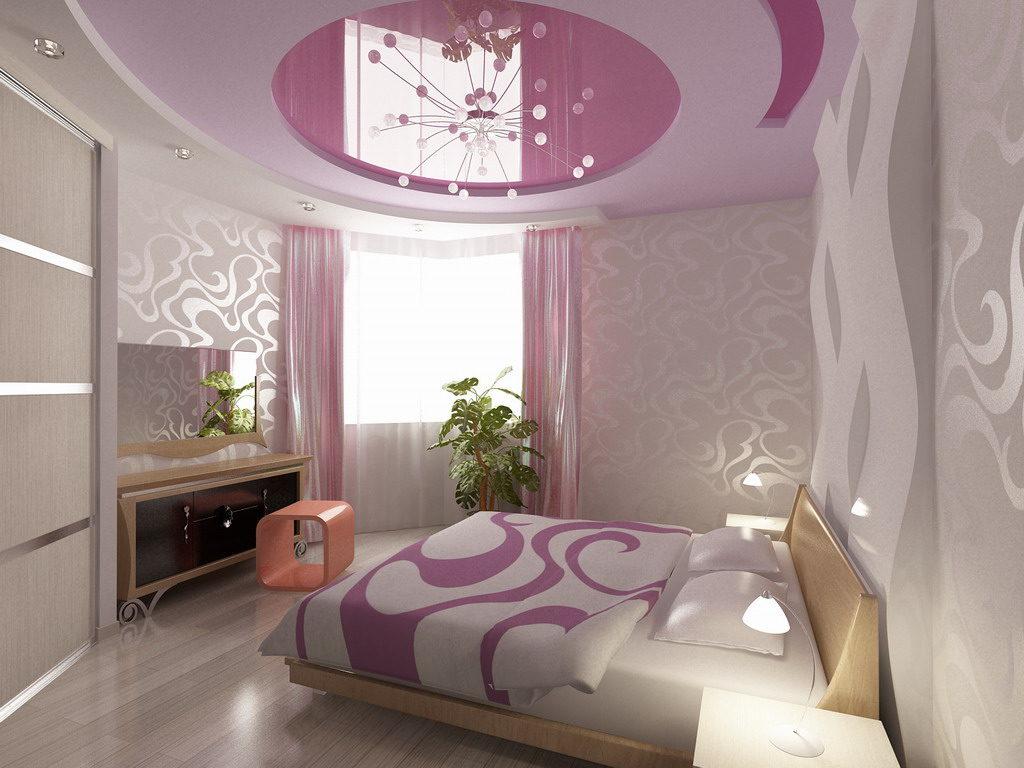 Оригинальный внешний вид такой люстры в интерьере спальни будет смотреться стильно