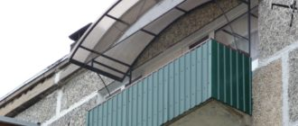 Пошаговая инструкция по монтажу козырька над балконом