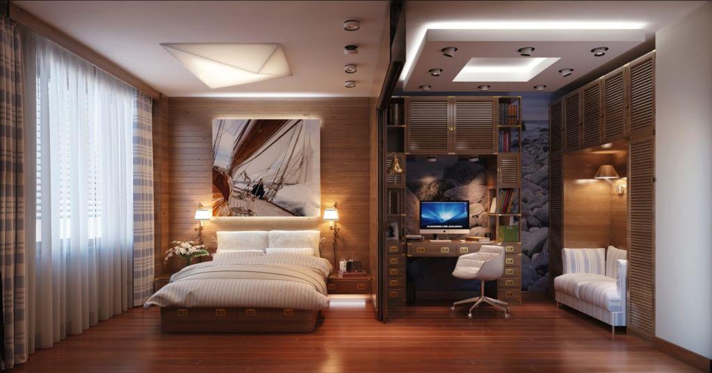 Просторная спальня не должна выглядеть пустой