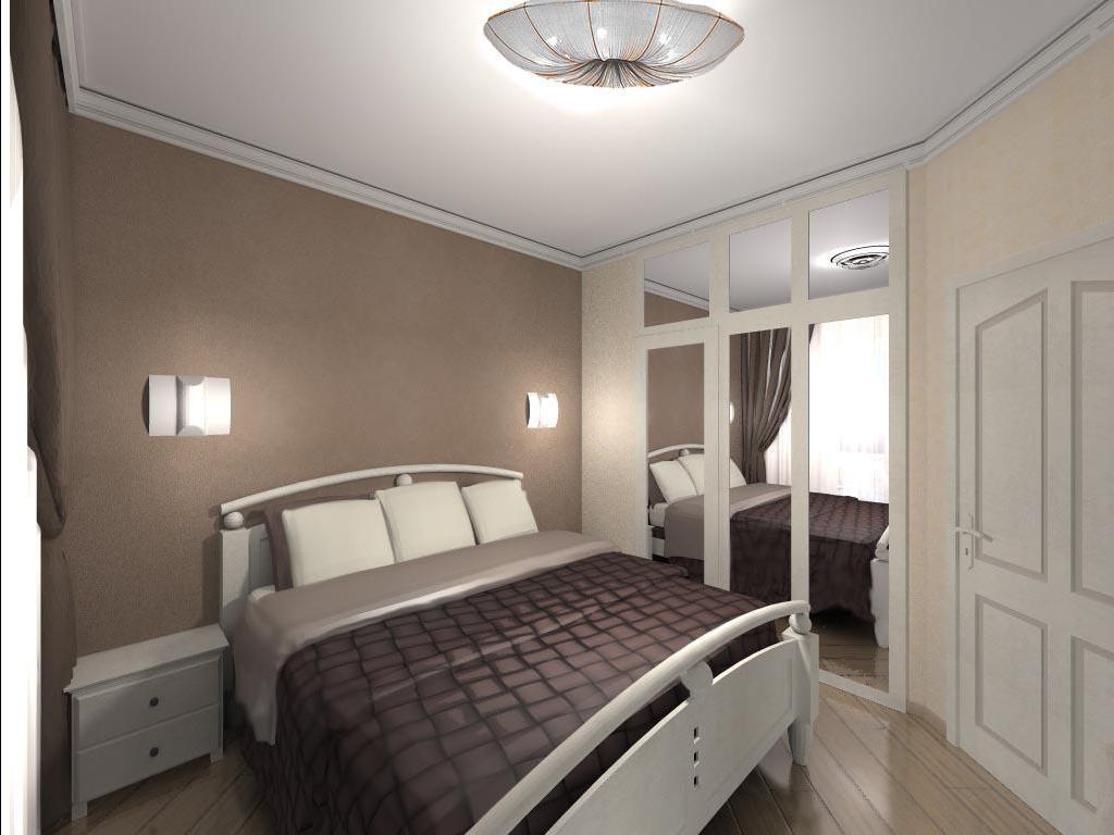 Функциональный дизайн интерьера спальни 12 кв. м.
