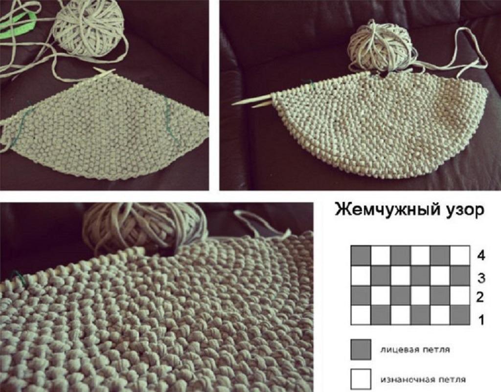 Когда вязаный чехол готов, одеваем его на заготовку, при помощи крючка сшиваем две половинки