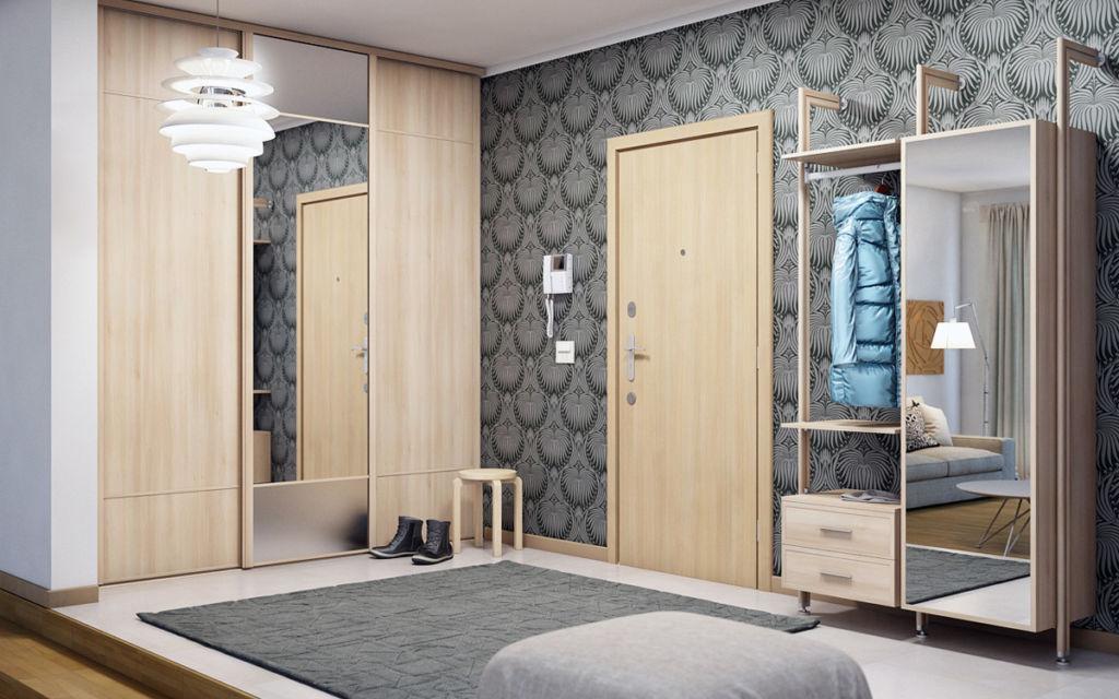 Такая мебель с зеркальными дверями считается очень многофункциональной, как и другие изделия с зеркалами в коридоре