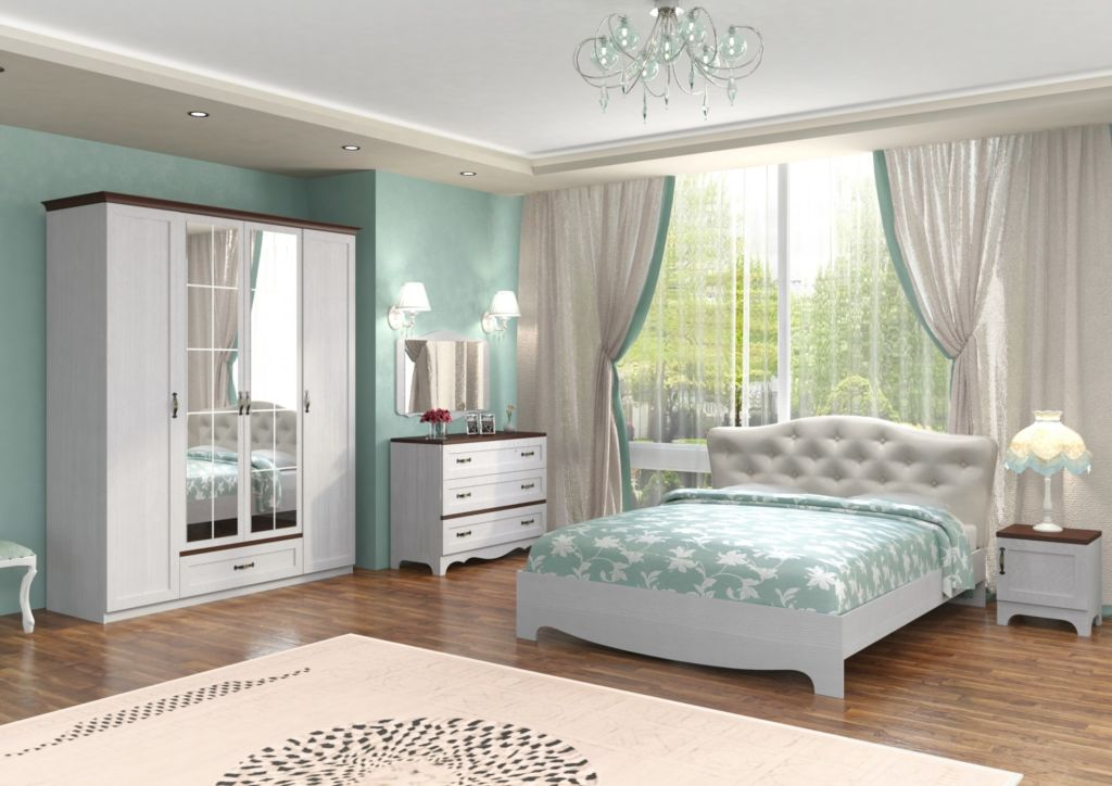 Грамотная планировка спальни выполнена по всем правилам - это залог здорового сна