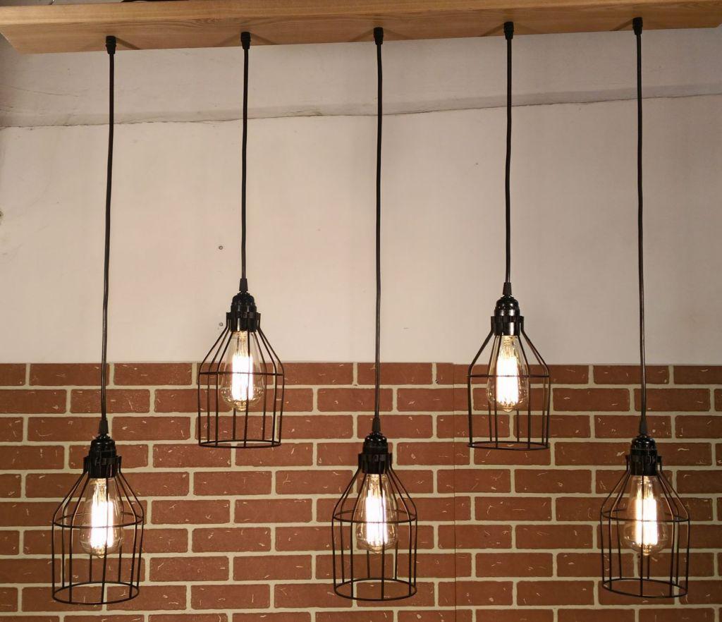 Потолочный светильник-люстра в стиле лофт