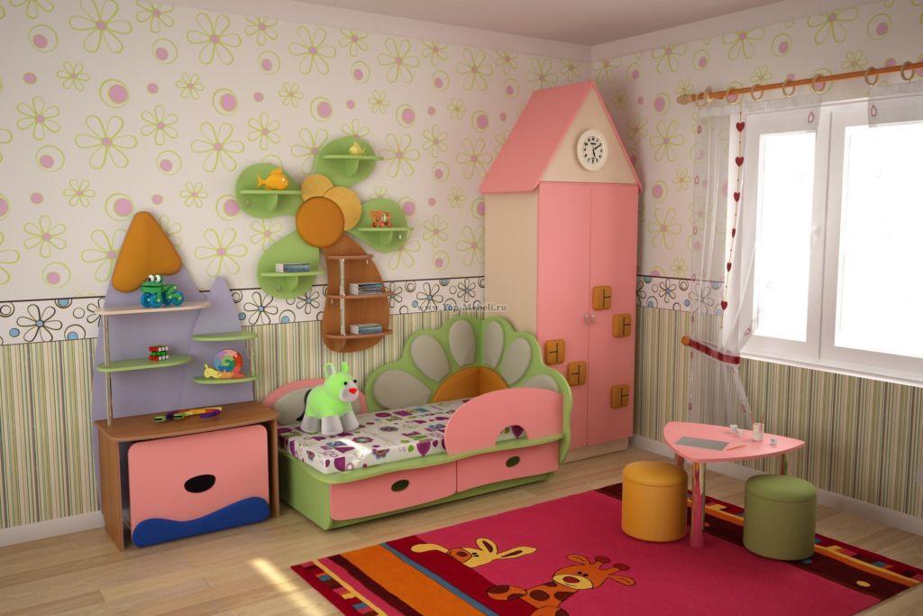 Обои для детской комнаты отличаются яркостью, красочностью, могут быть декорированы сюжетами