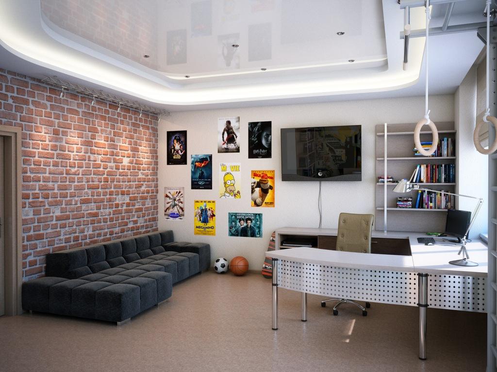 Натяжной потолок – оптимальный способ сделать дизайн комнаты для подростка функциональным, гармоничным и уютным
