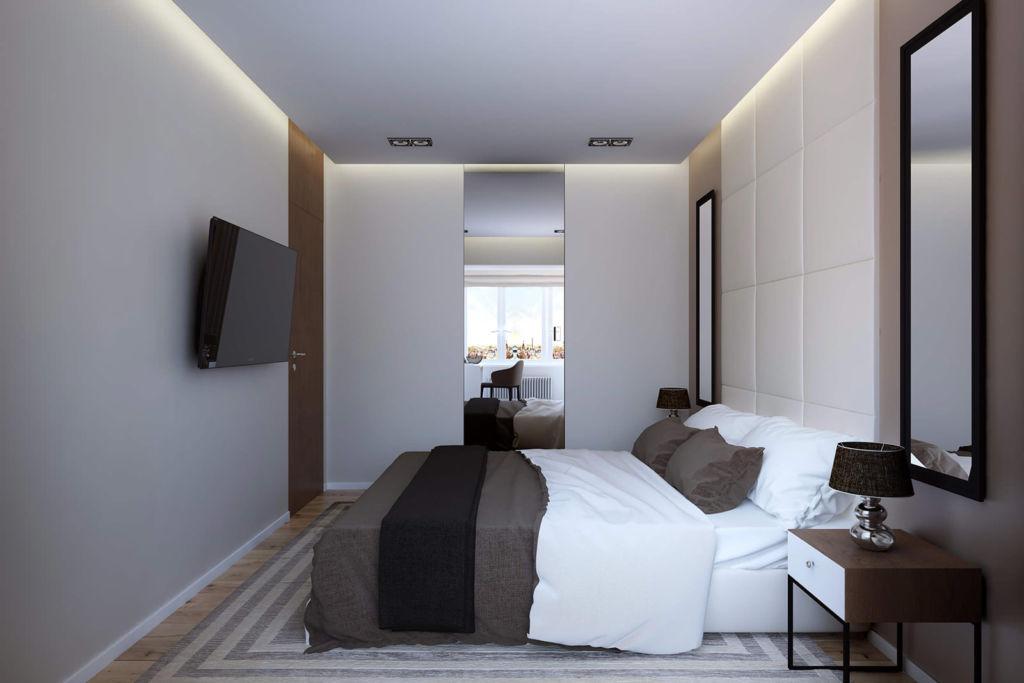 Дизайн маленькой спальни должен учитывать то, что свободного пространства здесь мало