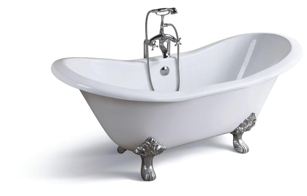 Среди положительных характеристик чугунной ванны, можно выделить их бесшумность