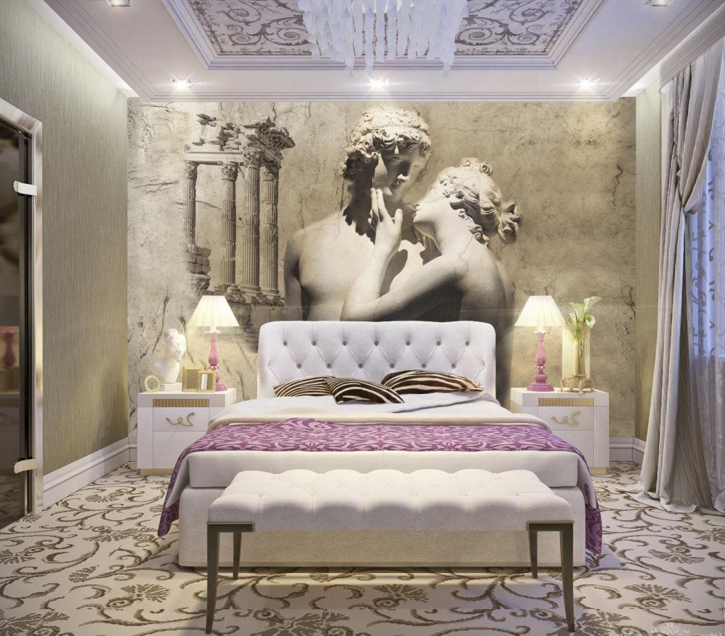 Фотообои способны визуально расширить комнату и превратить ее в красивый уголок