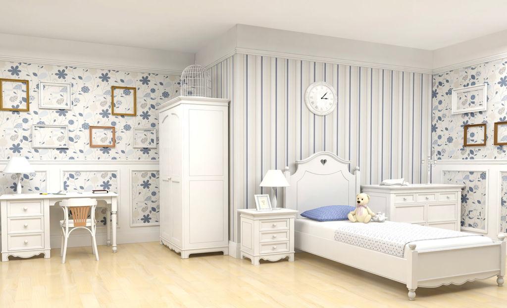 Обои для детской спальни в стиле прованс