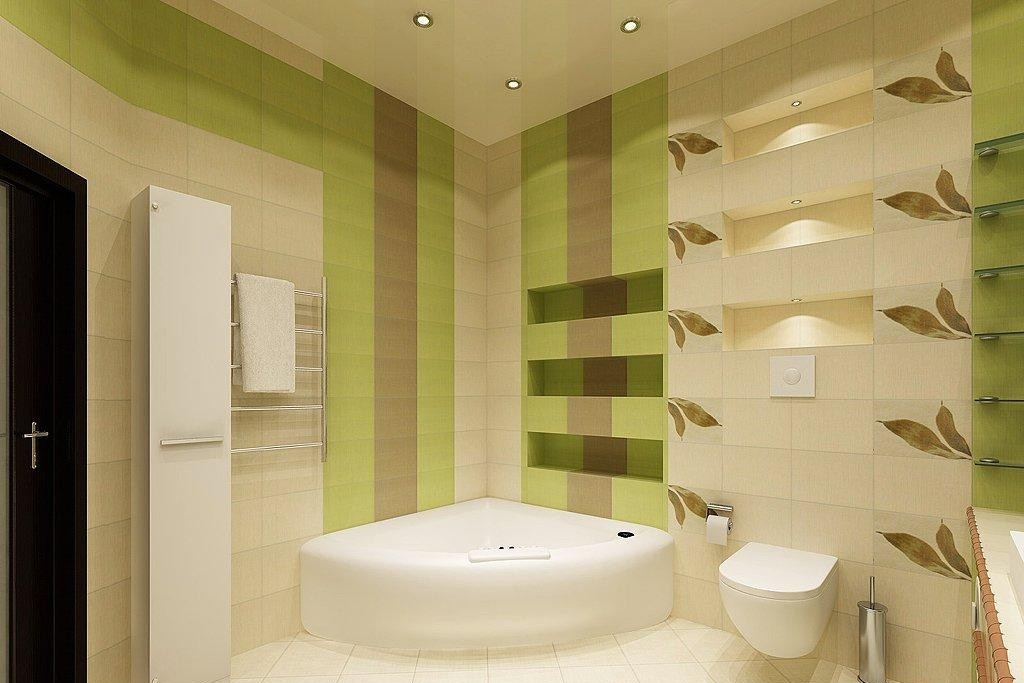 Потолок в ванной комнате должен без затруднений очищаться от возможных загрязнений