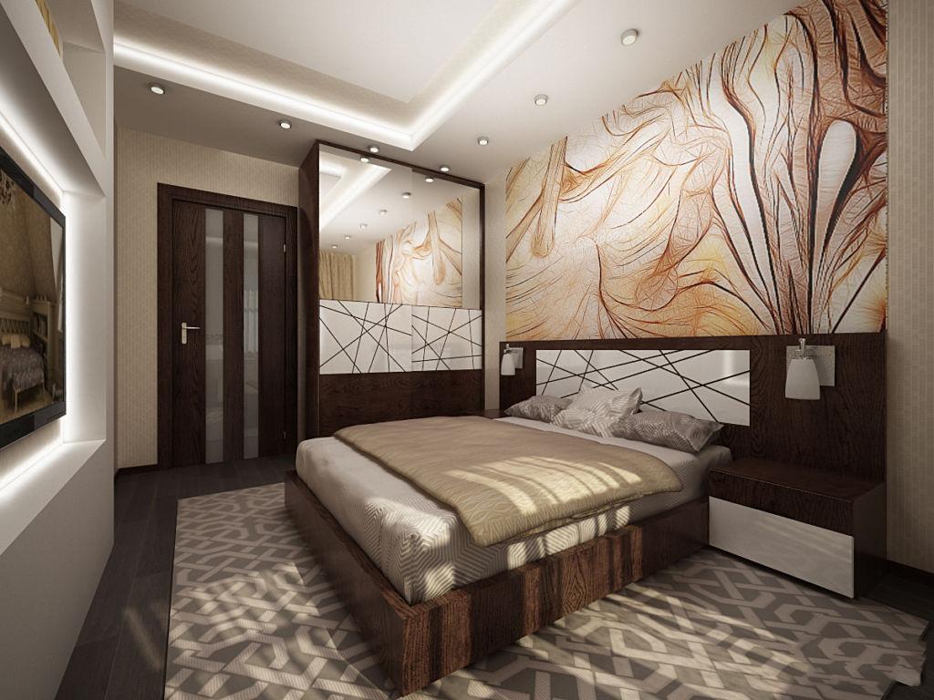 Вариант отделки стен декоративной штукатуркой для спальни девушки