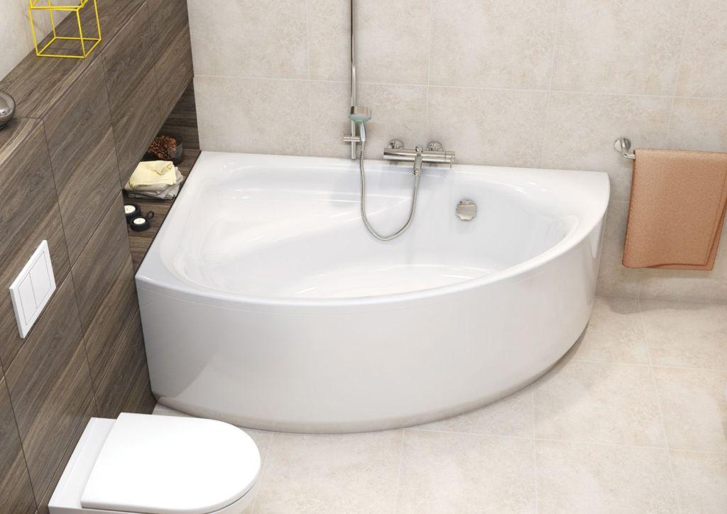 Угловые ванны смотрятся красиво по сравнению с классическими чугунными монстрами, одинаковыми у всех